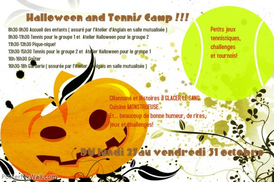 Poster from postermywall halloween tennis camp